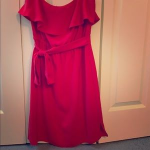 DKNYC strapless red dress